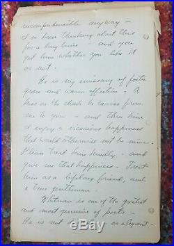 Three Stooges Autograph Moe Howard Handwritten 1937 Love Letter Walt Whitman