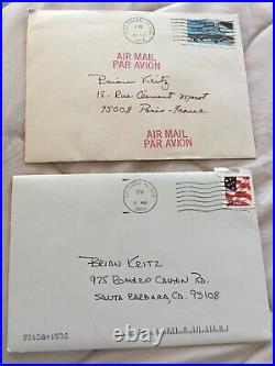 Two Handwritten Signed Autographed Letters From Sandy Koufax To Me