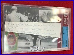 Ty Cobb BVG JSA Beckett Hand-Written signed cut hand written letter Very rare