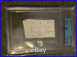 Ty Cobb BVG JSA Beckett handwriting signed cut hand written letter Neat
