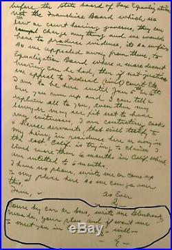 Ty Cobb Cut PS Autographed Signed Handwritten Letter JSA No. Z64853