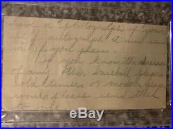Ty Cobb Cut Signature PSA/DNA Certified Unique Letter Hand Written Autograph