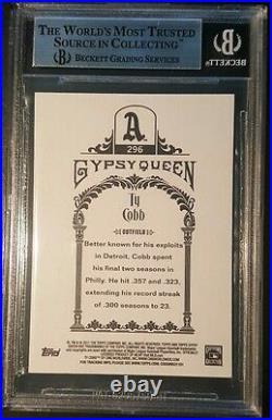Ty Cobb Handwritten Cut Letter Topps Gypsy Queen BAS Beckett AuthenticOlympics