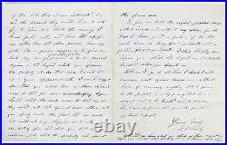 Ulysses S. Grant Double Signed 7.75x9.75 1873 Hand-Written Letter BAS #A79373