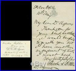 Very Fine, President Chester A. Arthur Handwritten & Signed Letter, No Date