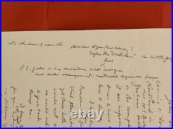 Vincent Price Handwritten Draft of Autograph Letter on Letterhead
