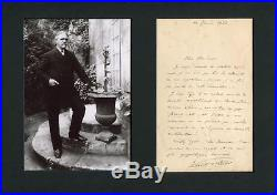 Vincent d`Indy COMPOSER autograph, handwritten letter signed & mounted