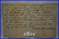 Vintage 1831 Handwritten, SIGNED Letter Elisha Stubbs Preble county Ohio