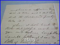 Vintage Hand Written Letter Autograph Thomas Buchanan Read American Poet Rare
