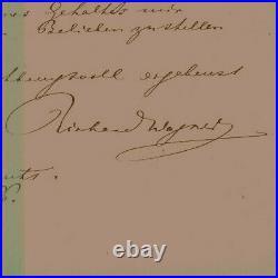 WAGNER, RICHARD autograph handwritten letter signed Autogramm Brief composer