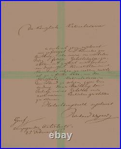 WAGNER, RICHARD autograph handwritten letter signed Autogramm Brief composer RAR