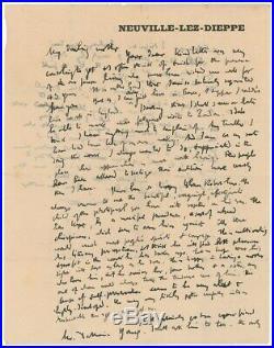 WALTER SICKERT Artist Handwritten Signed Letter RIPPER Patricia Cornwell ALS