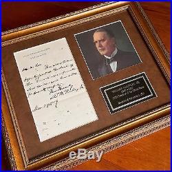 WILLIAM McKINLEY JSA Rare Handwritten AUTOGRAPH Letter SIGNED Assassinated