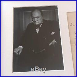WINSTON S. CHURCHILL JSA LOA Authentic Handwritten AUTOGRAPH Letter SIGNED