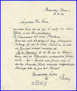 WRITER Rudolf G. Binding autograph, handwritten letter signed