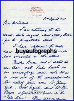 WW2 Colditz Escape Officer Dick Howe signed handwritten letter UACC DEALER