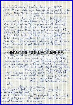 WW2 French Resistance and M. I9 agent JIMMY LANGLEY hand written & signed letter
