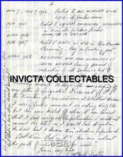 WW2 RAF Battle of Britain veteran R. W Dalton hand written & signed letter & bio