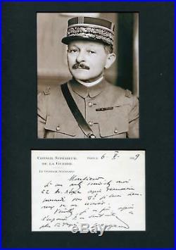 WW II Maxime Weygand autograph, handwritten letter signed