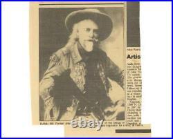 W. F. Buffalo Bill Cody Signed Auto 1895 Letter Handwritten Beckett BAS