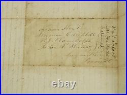 Wait Talcott Handwritten Signed Letters Anti-Slavery Senator IRS Lincoln 1844