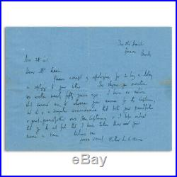 Walter De La Mare Autograph Signed Hand Written Letter