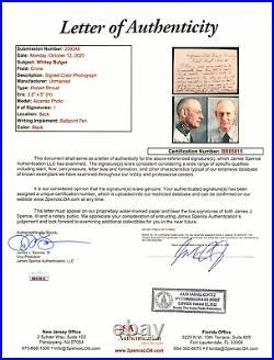 Whitey Bulger Hand Written Signed Framed Letter Birdman Alcatraz Mafia JSA COA