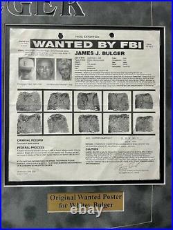 Whitey Bulger Hand Written Signed Framed Letter about Al Capone Mafia JSA COA