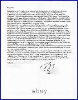 Whitey Bulger Hand Written Signed Letter Prison Cellmate JSA COA Autograph Mob