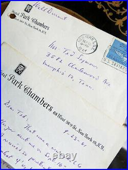 Will Durant Author Historian Hand Written Autographed Letter & Envelope 1961