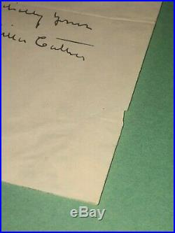 Willa Cather Handwritten and Signed Letter on Shattuck Inn and Annex Letterhead