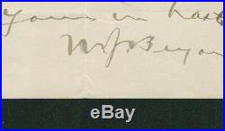 William Jennings Bryan SIGNED AUTOGRAPHED Handwritten Letter from The Commoner