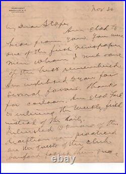 William Jennings Bryan Sec. Of State, Presidential nominee handwritten letter